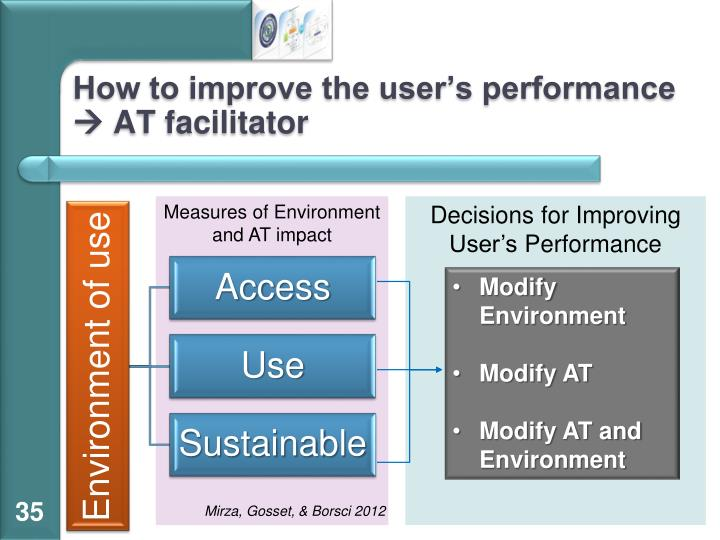 How to improve the user's performance
