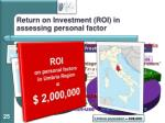 return on i nvestment roi in assessing personal factor