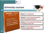 university courses