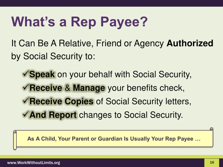 What's a Rep Payee?