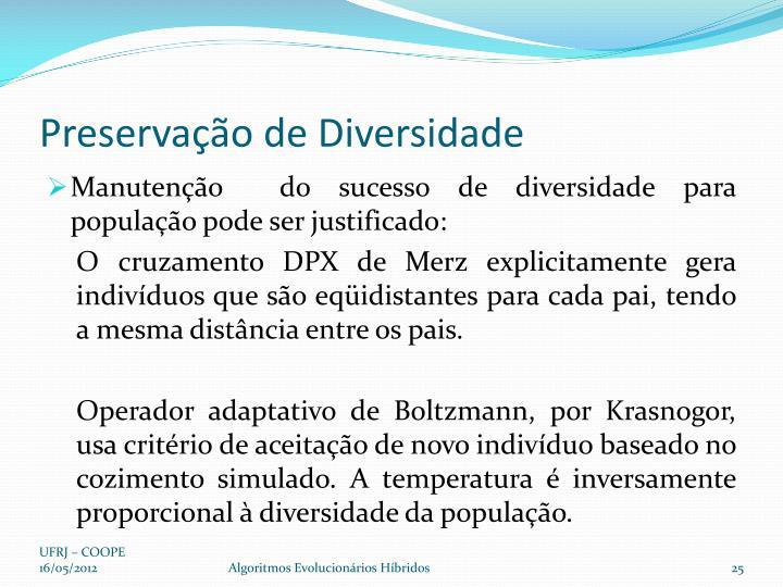 Preservação de Diversidade