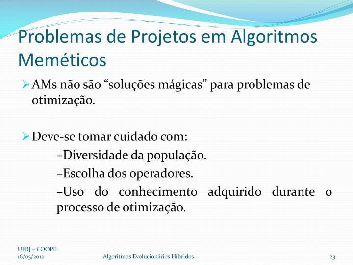 Problemas de Projetos em Algoritmos