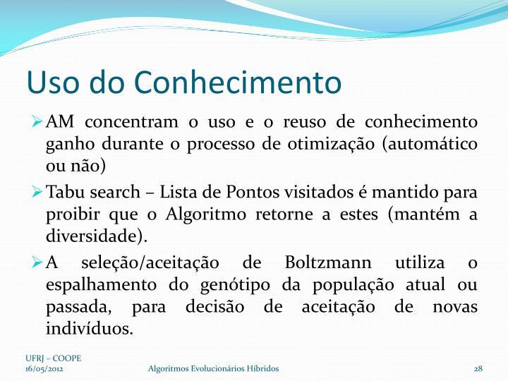 Uso do Conhecimento