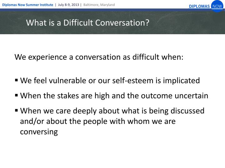 What is a Difficult Conversation?
