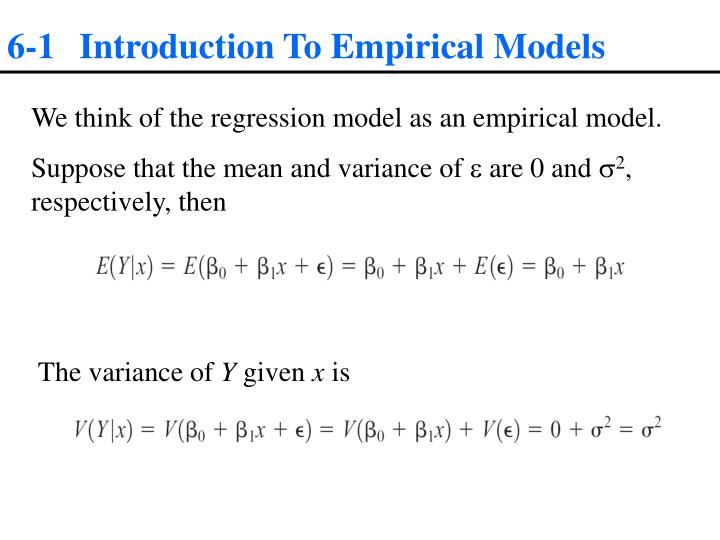 6-1 Introduction To Empirical Models