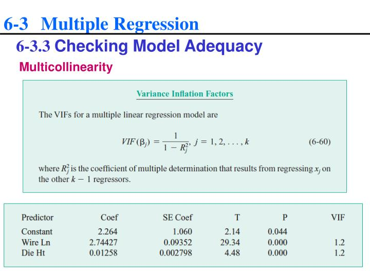 6-3 Multiple Regression