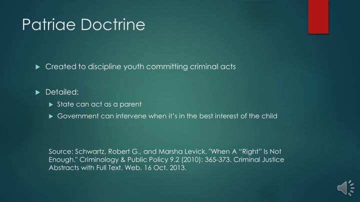 Patriae Doctrine