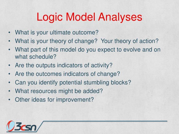 Logic Model Analyses