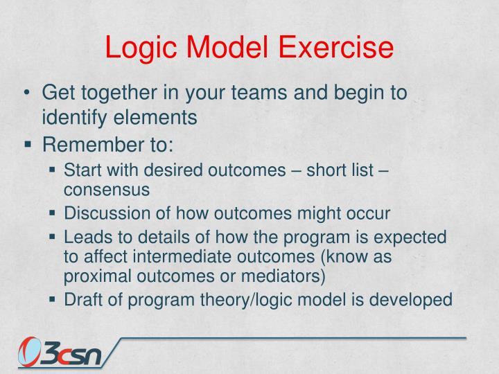 Logic Model Exercise