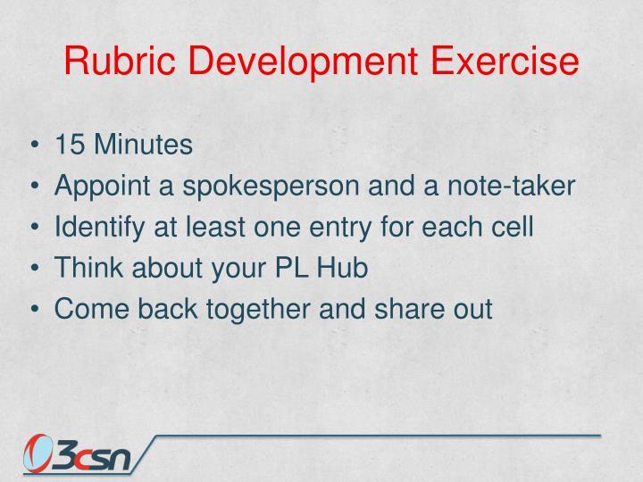 Rubric Development Exercise