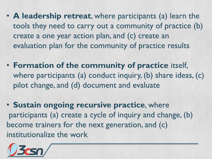 A leadership retreat