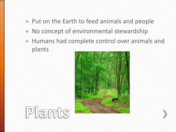 Put on the Earth to feed animals and people