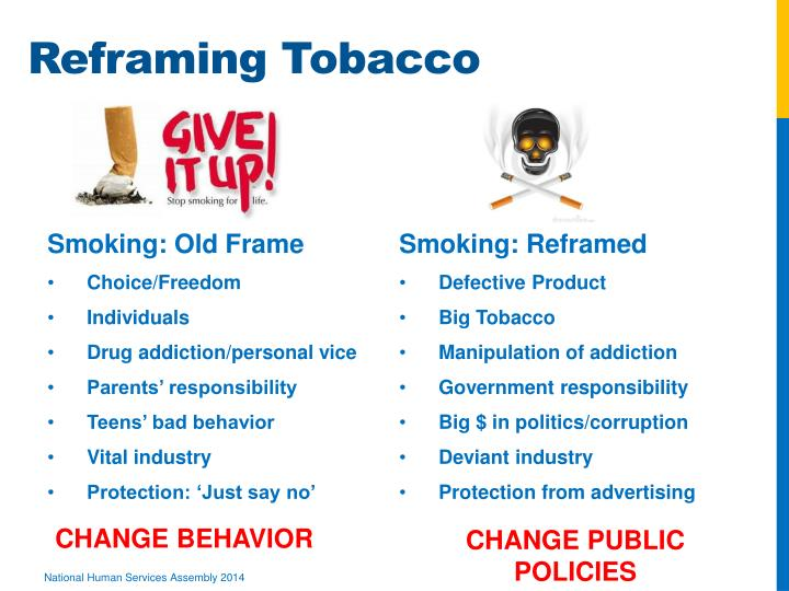 Reframing Tobacco