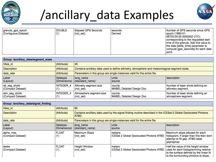 /ancillary_data Examples