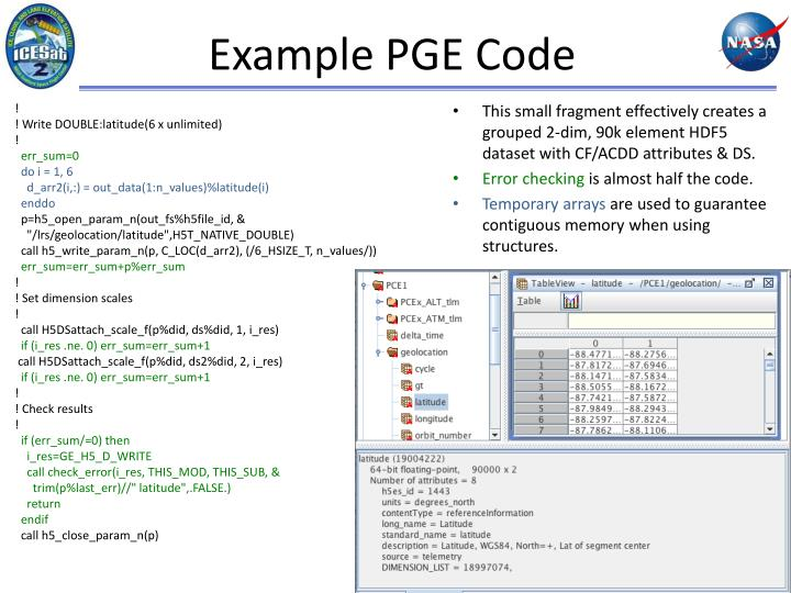 Example PGE Code