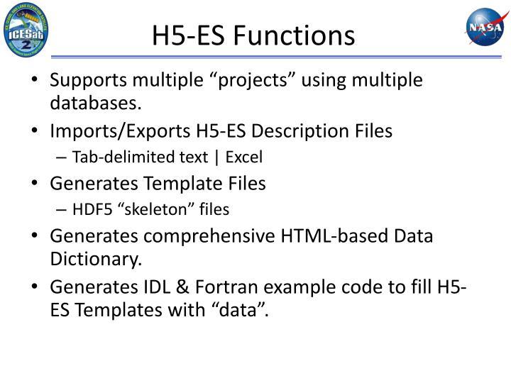H5-ES Functions