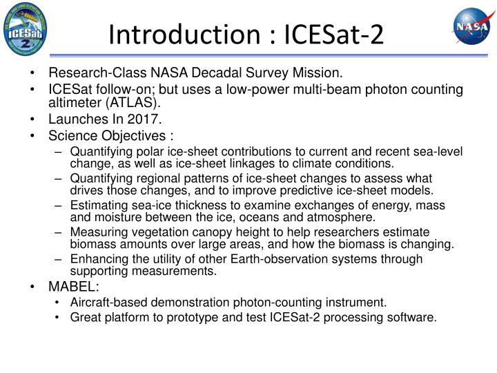 Introduction : ICESat-2