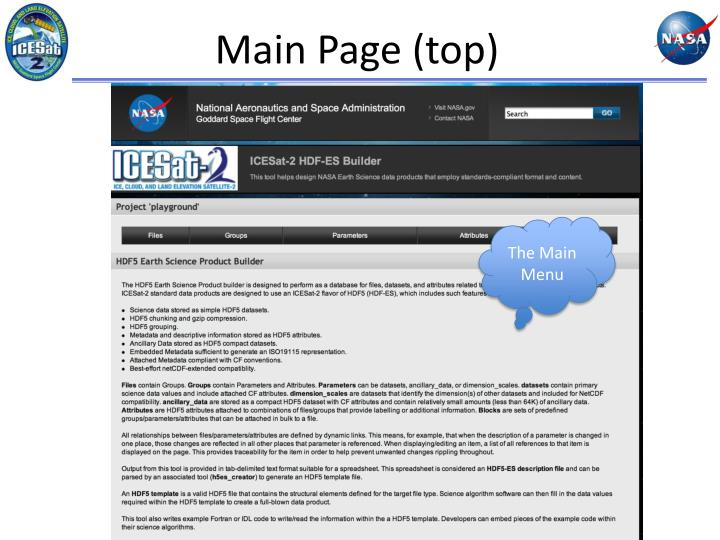 Main Page (top)
