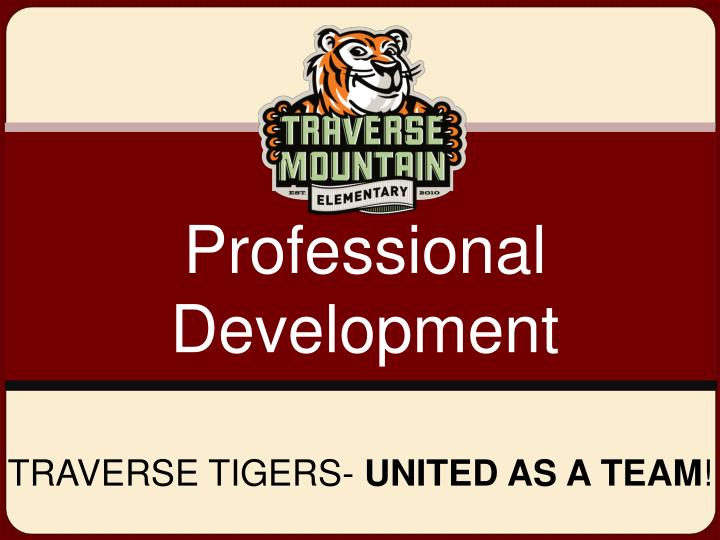 Traverse tigers united as a team