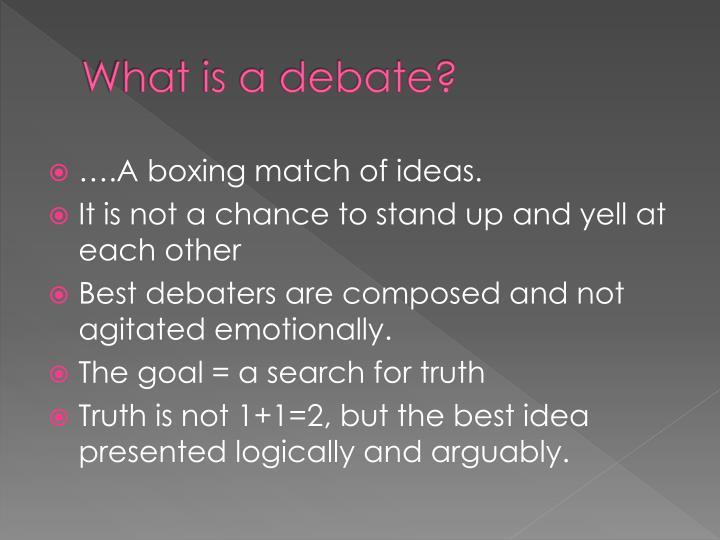What is a debate?
