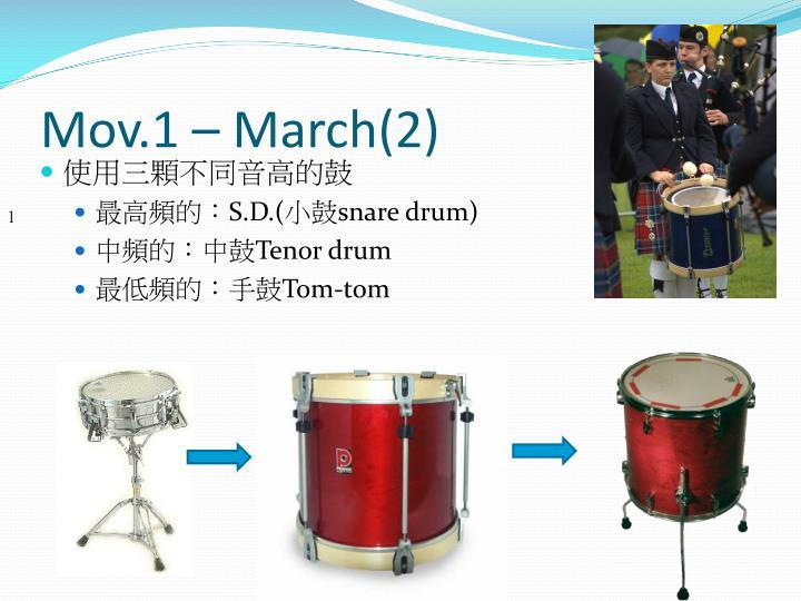 Mov.1 – March(2)