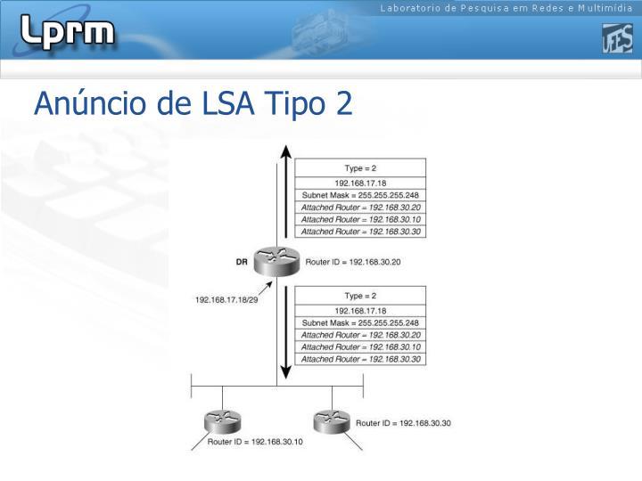 Anúncio de LSA Tipo 2