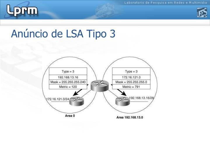 Anúncio de LSA Tipo 3