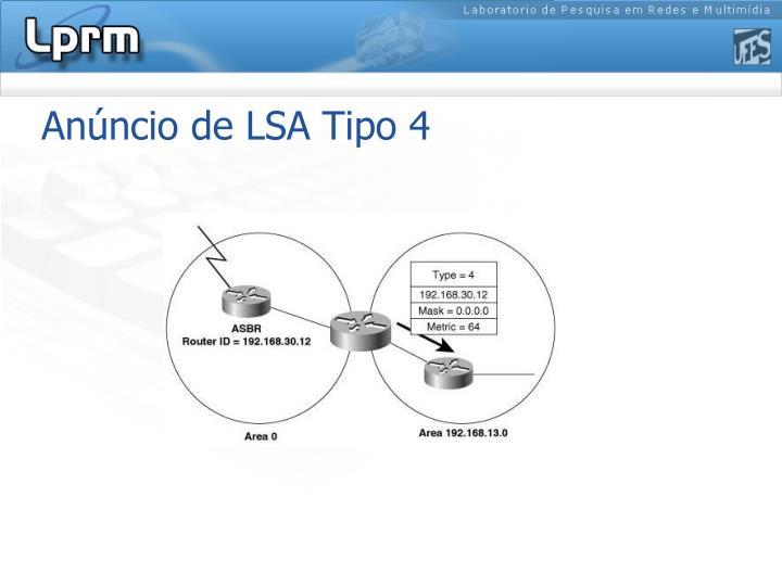 Anúncio de LSA Tipo 4
