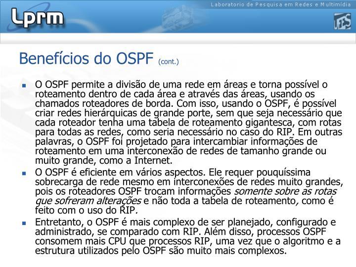 Benefícios do OSPF