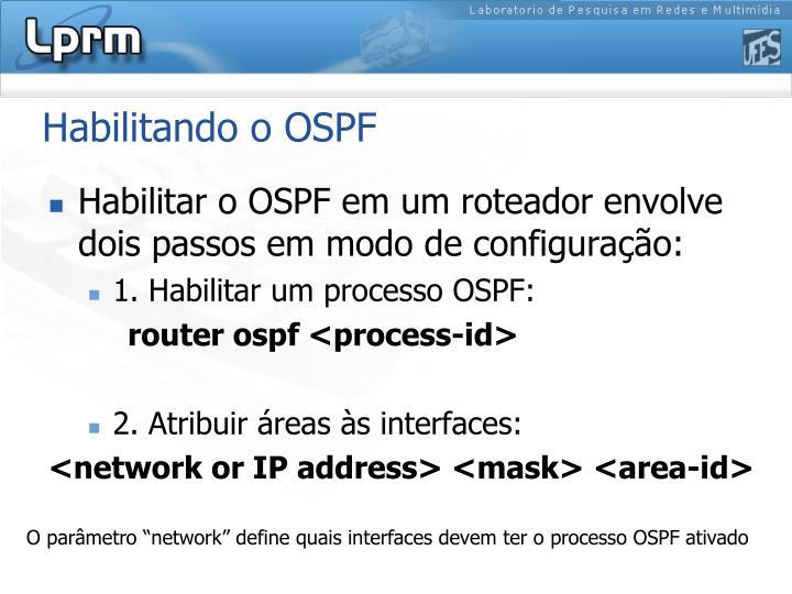 Habilitando o OSPF