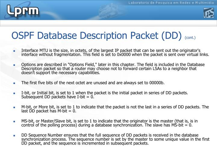 OSPF Database Description Packet (DD)