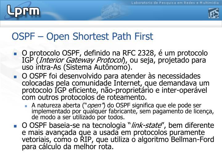 OSPF – Open Shortest Path First