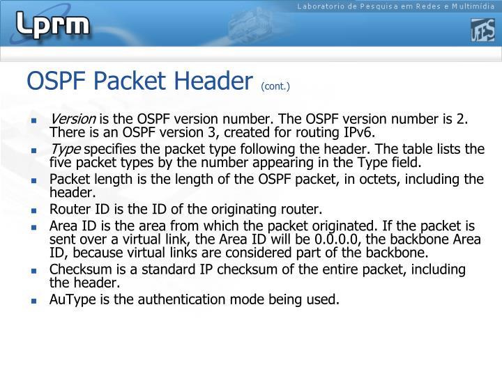 OSPF Packet Header