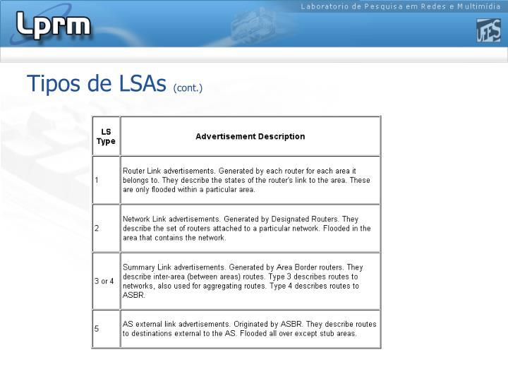 Tipos de LSAs