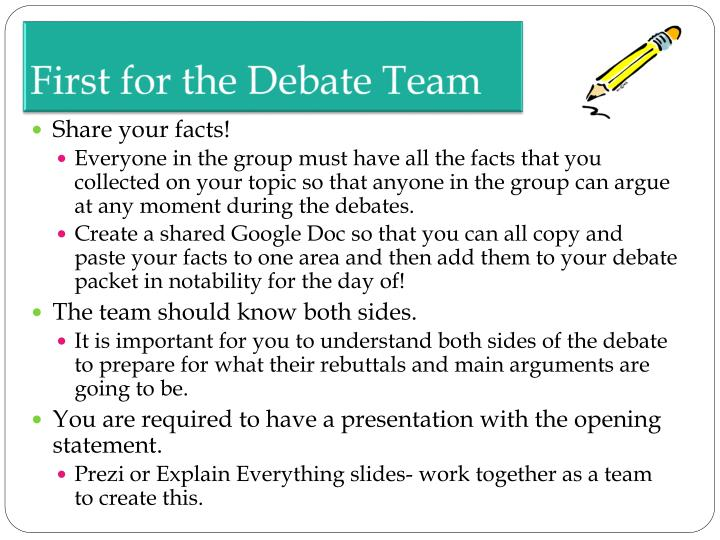 How to write opening statement for debate
