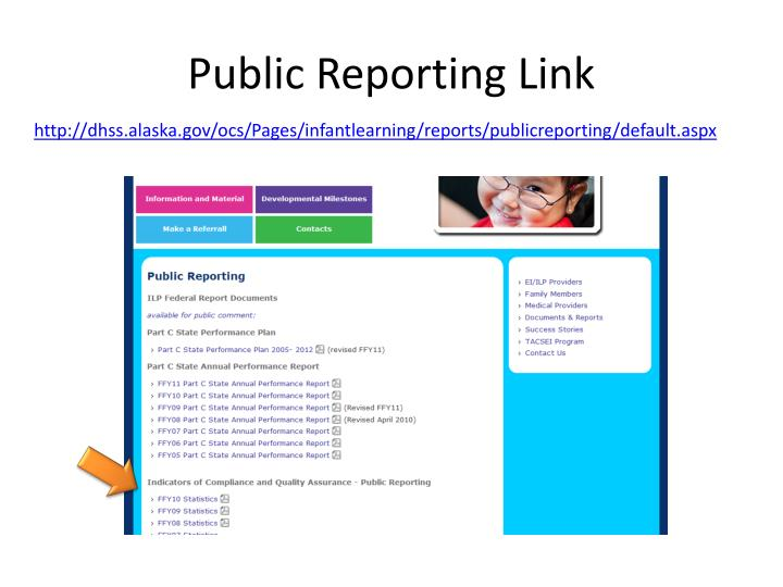 Public Reporting Link