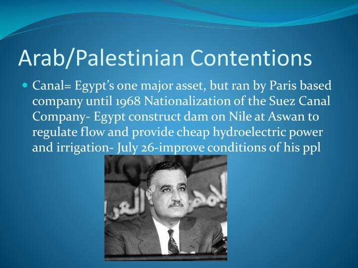 Arab palestinian contentions
