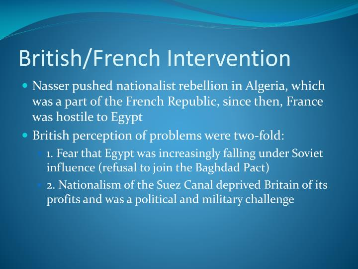 British/French Intervention