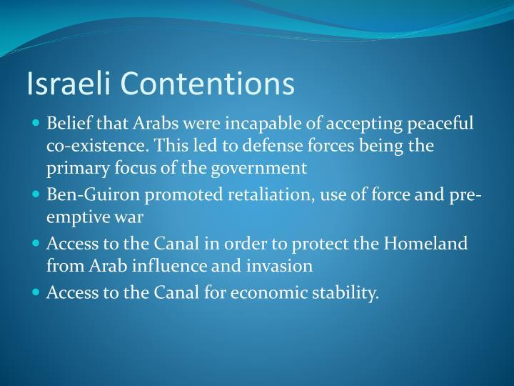 Israeli Contentions