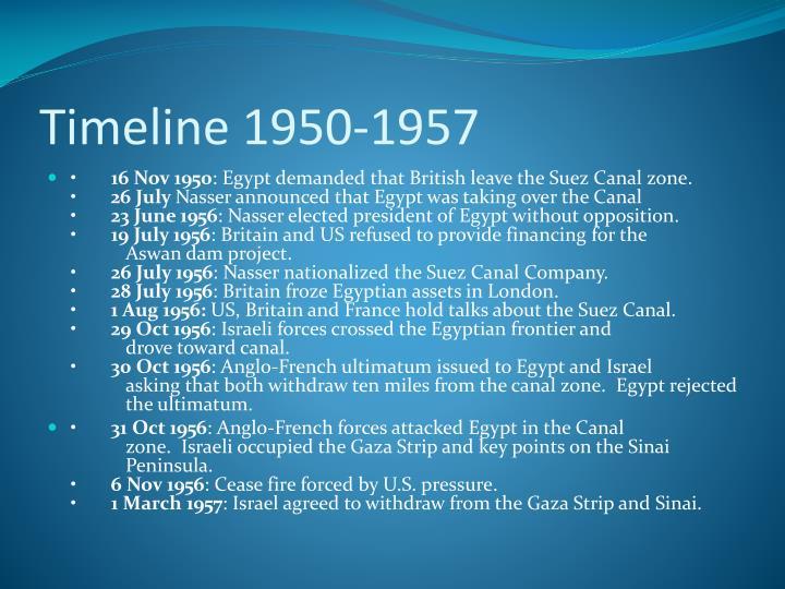 Timeline 1950-1957