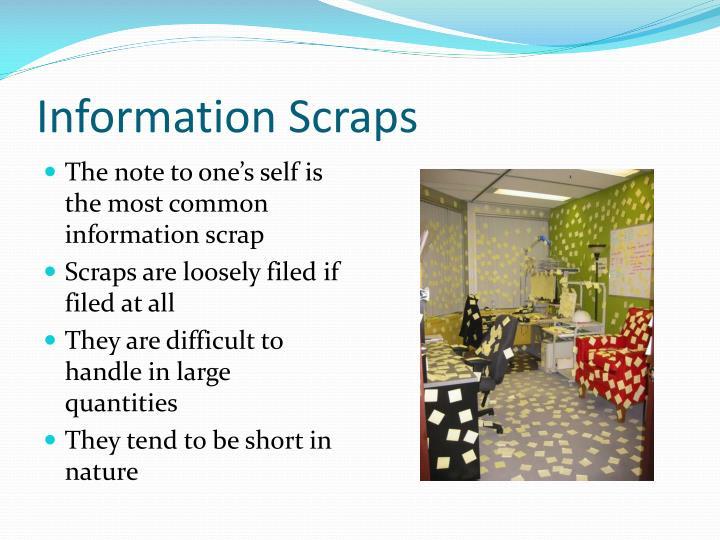 Information Scraps