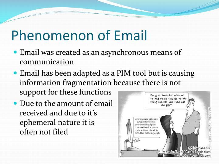 Phenomenon of Email