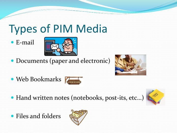 Types of PIM Media