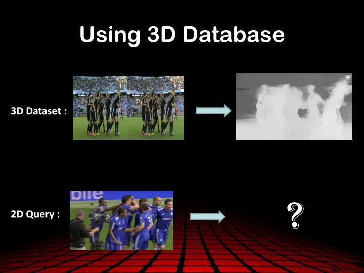 Using 3D Database