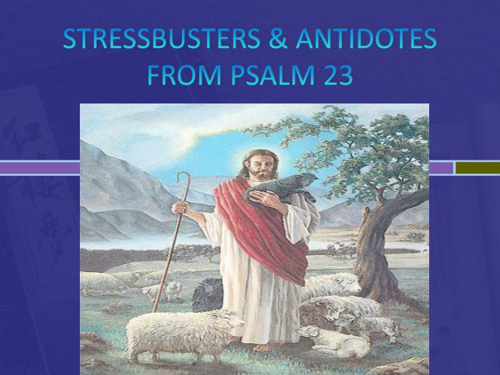 Stressbusters antidotes from psalm 23