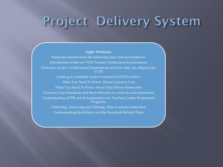 Project  Delivery System