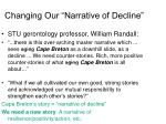 changing our narrative of decline