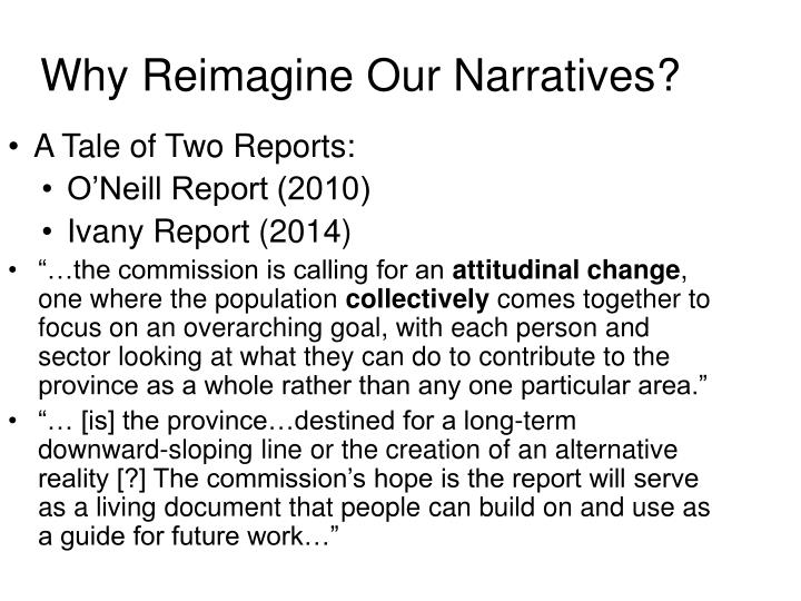 Why Reimagine Our Narratives?