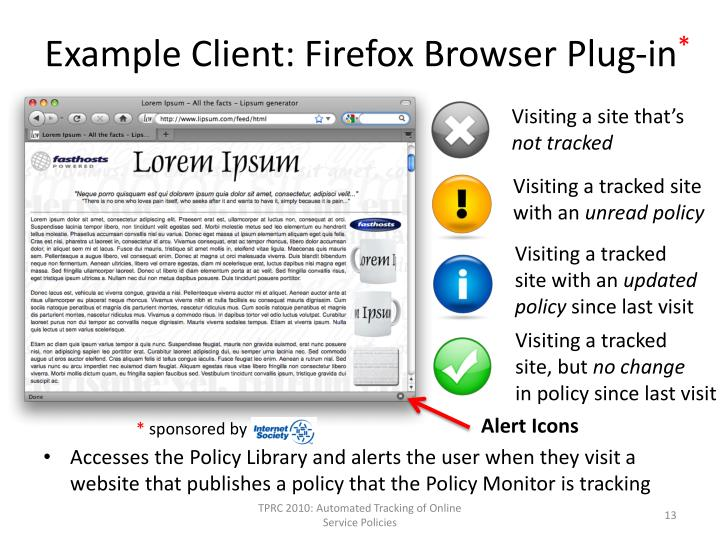 Example Client: Firefox Browser Plug-in