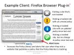 example client firefox browser plug in